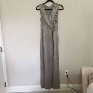 NWOT ASTR The Label Ginger Maxi Dress in Rose Gold